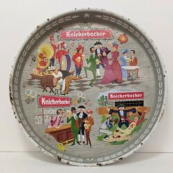 Knickerbocker Beer Tray 12 Metal Round Tray Vintage Have A Knick Man Cave Bar