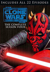Star Wars The Clone Wars - The Complete Season Four Dvd, 2012, 4-disc Set