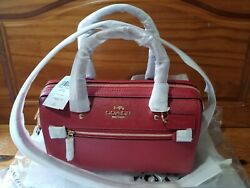 New With Tags Red Coach Rowan Satchel
