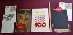 Lot Of 6 Coca-cola Posters 3 Sports, 1 Centennial, 1 Blackboard, And 1 Lithograph