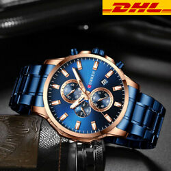 2021 New Menand039s Quartz Classic Wristwatch Stainless Steel Watch Dial Date Analog