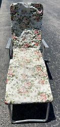 Vintage Folding Aluminum Chaise Lounge Lawn Chair - Frame In Great Shape