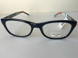 Nwt 68 Kate Spade Lettie Readers +2.5 Blue/multi Free Same Day Shipping
