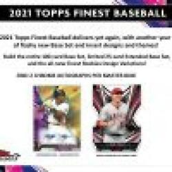 2021 Topps Finest Baseball Hobby 2 Autos And 12 Packs/5 Cards
