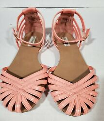 Steve Madden Tane Coral Ankle Strap Flat Sandals   Womens Size 8
