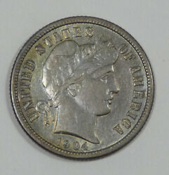 1904-s Barber Dime Extra Fine Silver 10c
