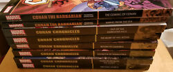 Marvel Epic Collection Conan Chronicles And Barbarian 8 Book Lot