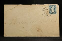 Confederate Ga, Macon 1860s Csa 12 Type Ii, 4 Margins Cover To Athens