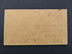 Michigan Plainwell 1850s Stampless Cover, Ms, Allegan Co