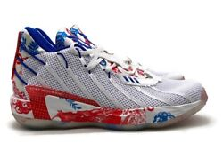 Adidas Dame 7 Fine China Men's Size 11 Basketball Shoe White Red Blue Sneaker