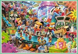 1000 Piece Jigsaw Puzzle Mickey's Toy Factory Pure White Discontinued Pro 6-317