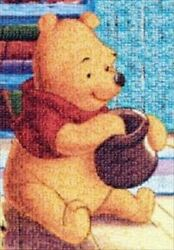 1000 Piece Jigsaw Puzzle Winnie The Pooh Photo Mosaic Discontinued Produc 6-317