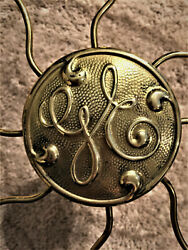 Andnbspvintage Solid Brass Fan Cage Cover Brass Badge 13 Inch Cage.