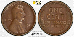 1922 No D 1c Strong Reverse Lincoln Wheat Cent Pcgs Xf 40 Extra Fine Tough Coin