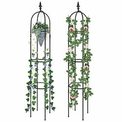 Garden Trellis Tall Plant Support For Climbing Vines And Flowers Stands 2 Pack