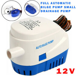 12v 760gph Automatic Submersible Boat Bilge Water Pump Auto With Float Switch