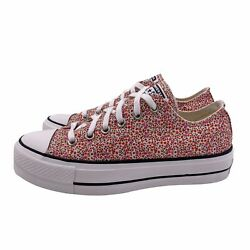 Converse Chuck Taylor All Star Low Lo Platform Lift Floral All Over Print Ox 9.5