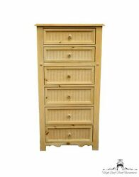 Stanley Furniture Chalais Collection Country French Solid Knotty Pine And Wic...