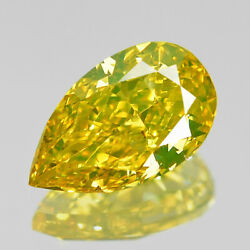 0.53cts Greenish Yellow 100 Natural Diamond Excellent Luster ✯clearance Sale✯