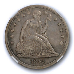 1840 1 Seated Liberty Dollar Ngc Xf 45 Extra Fine To About Uncirculated Tough