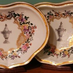 Meissen Rare 18th Century Celabration Of Life Pair Memorial Serving Dishes