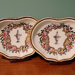 Rare 18th Century Meissen Celabration Of Life Pair Memorial Serving Dishes