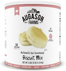 Augason Farms Buttermilk No Leavening Biscuit Mix 2 Lbs 15 Oz No. 10 Can