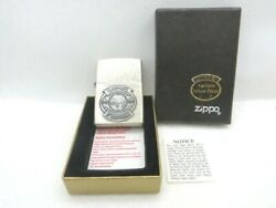 Vintage Zippo Lighter Camel 1998 85th Anniversary Antique Silver Plate W/box