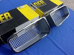 New 1970-71 Firebird Silver Standard Grill Pair Lh And Rh Gm Licensed Oer Parts