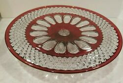 Vintage Westmoreland Ruby Wakefield Footed Cake Stand Vguc