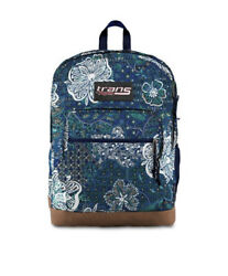 Trans By Jansport Backpack Supercool Mosaic Garden Blue Laptop New With Tag 17