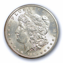 1889 S 1 Morgan Dollar Pcgs Ms 62 Uncirculated Better Date Nice White Coin