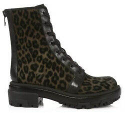 Rag And Bone Womenandrsquos Shaye Suede Leather Combat Boots Size 8m
