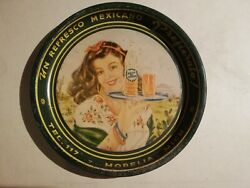 Awesome Mexican Antique Orange Soda Perisoda Tip Tray 6 From 40and039s Rare Htf
