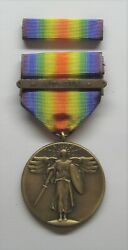 Ww I Victory Military Medal With Ribbon Russia Bar