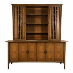 Mid-century Modern China Cabinet / Display Case / Bookcase By White Furniture