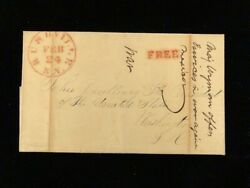 Ny Rushville C.1847 Stampless Cover Addressed To His Excellency The President