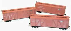 Accurail 8028 3 Car Set 40' Wood Boxcar Chicago And North Western - Unbuilt Kits