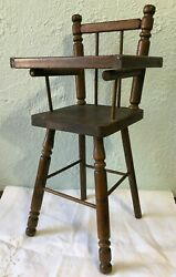Vintage Antique Cass Toys Wooden Doll High Chair Made In The South Usa Wood