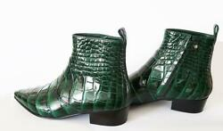 Auth Louis Vuitton Emerald Green 40 Alligator Leather Boots Bnib Rrp 22000