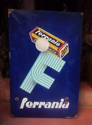 Ferrania Roll Film 1910 Original Very Old Vintage Porcelain Sign Made In Italy
