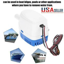 Automatic Submersible Boat Bilge Water Pump 12v 3a With Float Switch Outlet De