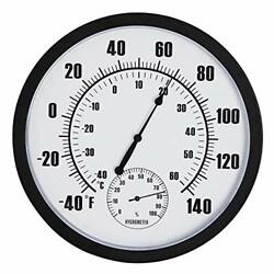 10 Patio Large Wall Thermometer And Hygrometer Indoor Outdoor Patio Garden