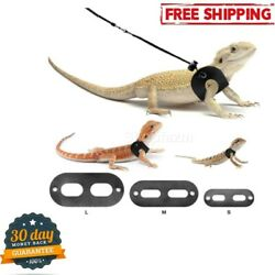 BWOGUE Bearded Dragon Harness and Leash Adjustable Leather Rat Lizard Reptiles