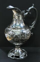 Rogers Smith And Co New Haven, Ct Silver-plate Pitcher, Circa 1840, 5.5x7x11.5