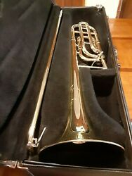 Bach Selmer Tenor Trigger Trombone Tb200b Great Playing Condition W/case