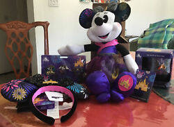 Minnie Mouse Main Attraction December Fireworks Ears, Mug, Plush And Pins Set