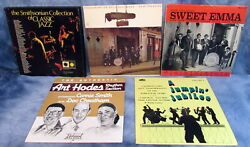 Vintage Mixed Lot Of 5 Jazz Albums Records 12 Vinyl 33 Rpm All In Sleeves