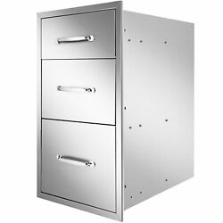 Outdoor Kitchen Drawers 18x23x23 Inch Bbq Stainless Steel Triple Drawersnew