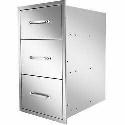 Outdoor Kitchen Drawers 16x22x18 Inch Bbq Stainless Steel Triple Drawersnew
